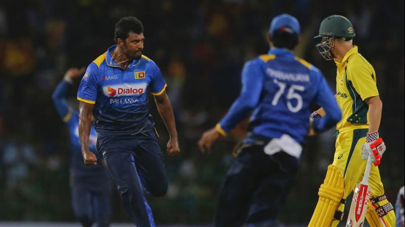 The incident involving Thisara Perera happened during Australia`s run-chase when the fast bowler, after dismissing David Warner, used language and displayed actions which could have provoked a reaction from the Australia opener. (Photo: AP)