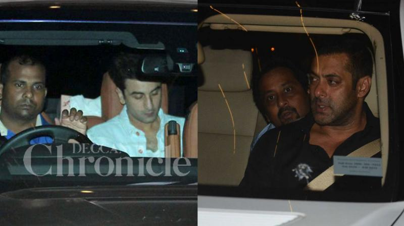 Anant Ambani held a star studded 21st birthday bash at his Antila residence in Mumbai on Saturday night, that brought enemies Salman Khan and Ranbir Kapoor together under one roof! Photo: Viral Bhayani