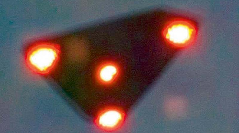 Triangle-shaped UFO spotted in Belgium in 1990.