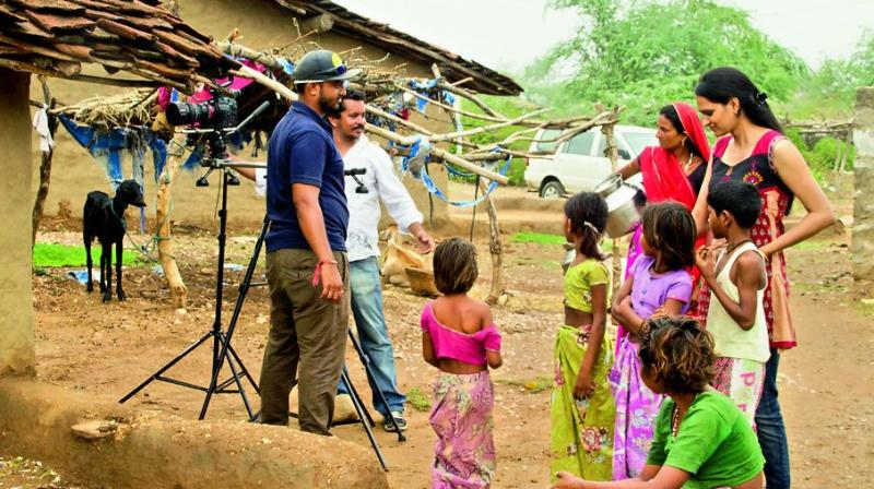 Vivek Rao Nipani on the sets of his award-winning film A Tale Of Two Veils