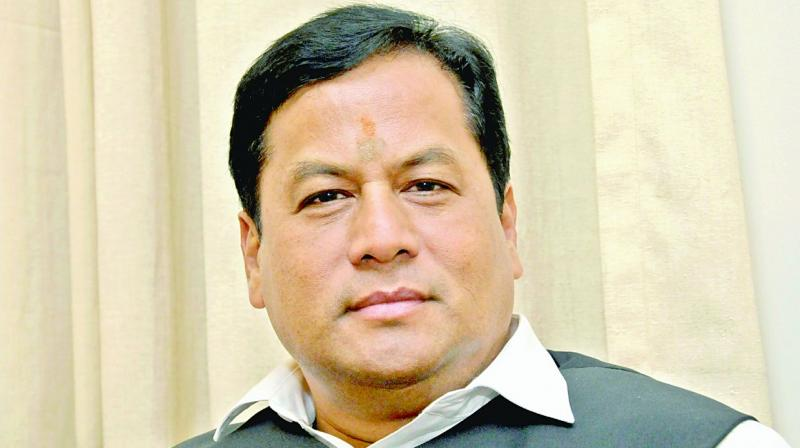 """Right from Pandit Nehru regime to the last Manmohan Singh regime, if you go through the history of Congress, in every tenure you will discover corrupt practices, either in this deal or that deal,"" Assam Chief Minister Sarbananda Sonowal alleged. (Photo: Sondeep Shankar)"