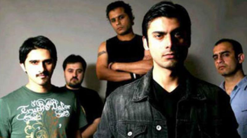 Fawad Khan with his Entity Paradigm bandmates.