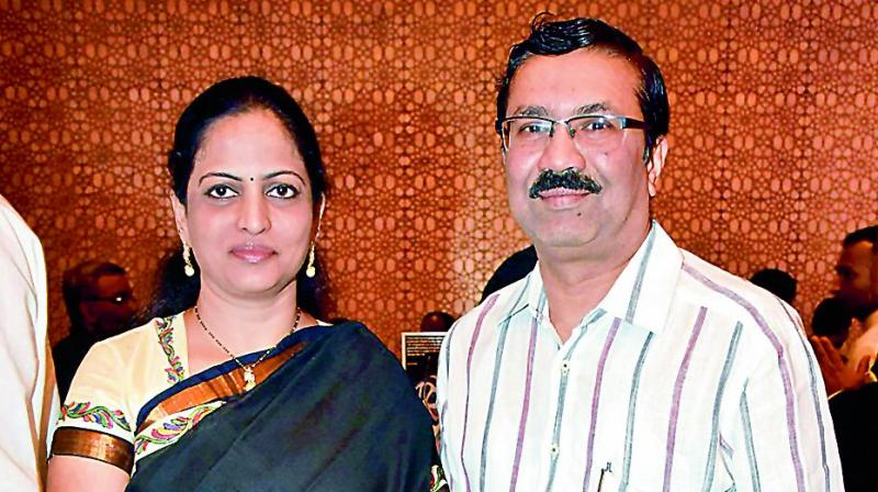 Dr A. Nagender Reddy and his wife Sarita Reddy, a professor.