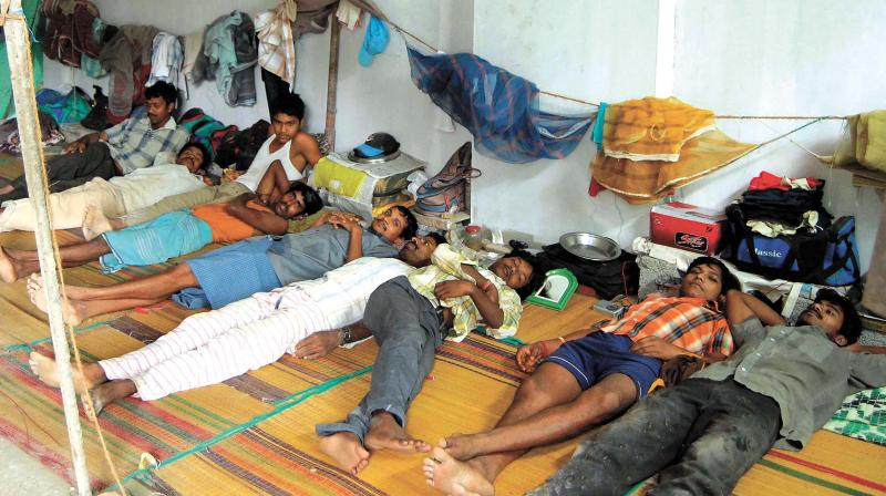 A migrant labour camp in Ernakulam. (Photo: DC FILE)