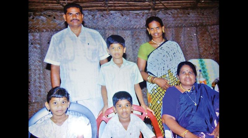 K. Ravindran and family in happier times.