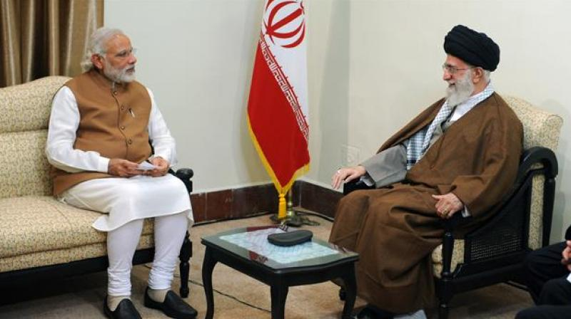 Khamenei, who has the final say over matters related to Iran's foreign policy and key issues, welcomed Modi. (Photo: Twitter)