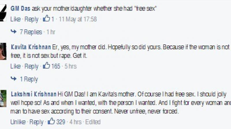 A screen grab of the comment thread
