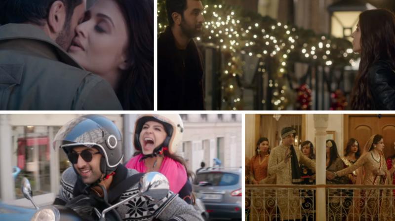 Ranbir Kapoor, Anushka Sharma and Aishwarya Rai Bachchan in 'Ae Dil Hai Mushkil'