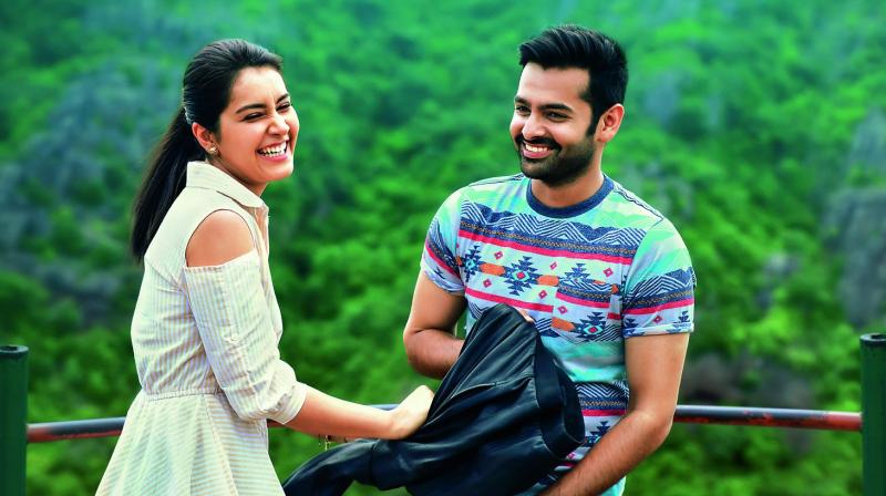 Ram and Raashi in a still from Hyper