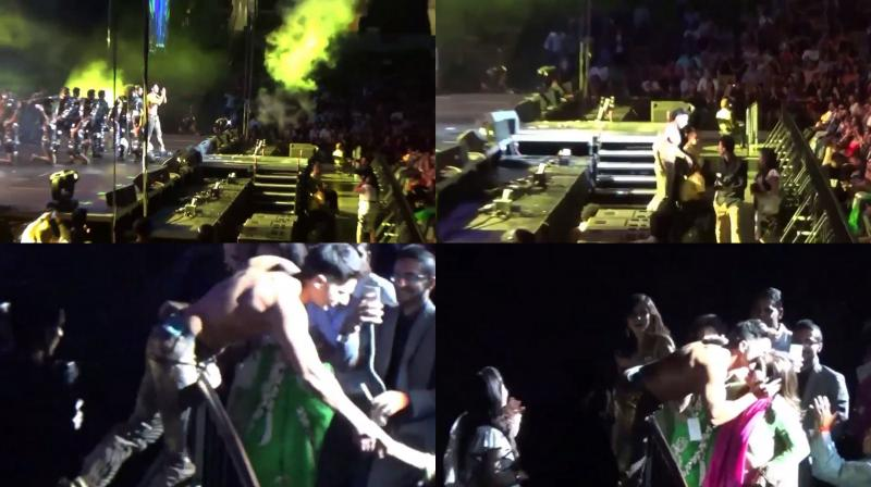 Screengrabs from the video.