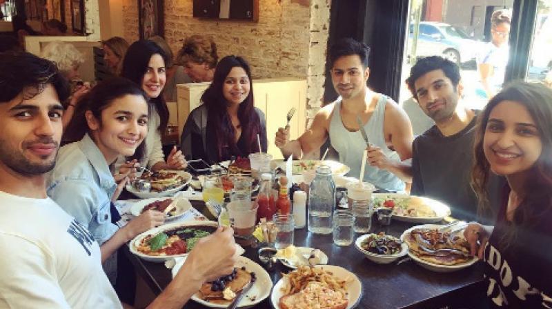 Alia Bhatt, Katrina Kaif, Parineeti Chopra, Varun Dhawan, Sidharth Malhotra, Aditya Roy Kapur as part of the Dream Team.