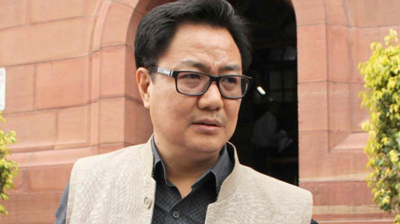 Minister of Home Affairs of India, Kiren Rijiju. (Photo: File/PTI)