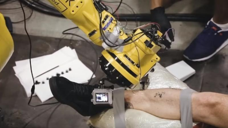 It uses a 3D scanner to capture images of body parts to be tattooed