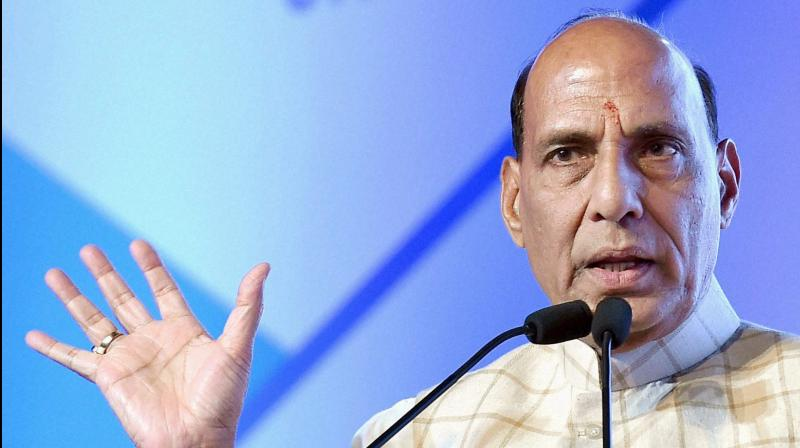 Union Home Minister Rajnath Singh spoke to Uttarakhand Governor K K Paul regarding the incidents of forest fires in the state and reviewed the situation. (Photo: PTI)