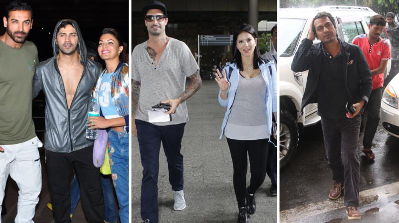 A bevvy of Bollywood celebrities for spotted traveling in and out of the city. Photo: Viral Bhayani