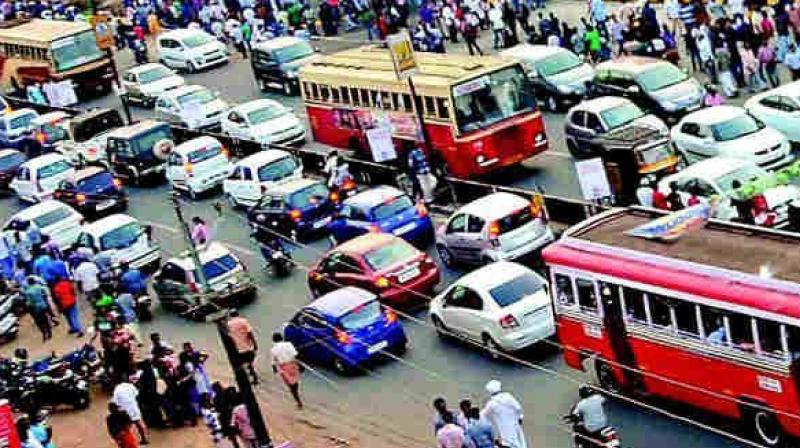 Of the total, police said 13,425 vehicles had been penalised for entering 'no-entry' zones apart from 4,528 buses, 17,326 mini-lorries and 7,048 lorries. (Representational image)
