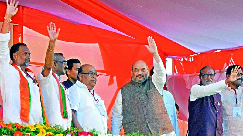 Amit Shah chalked out Poll strategy for Telangana