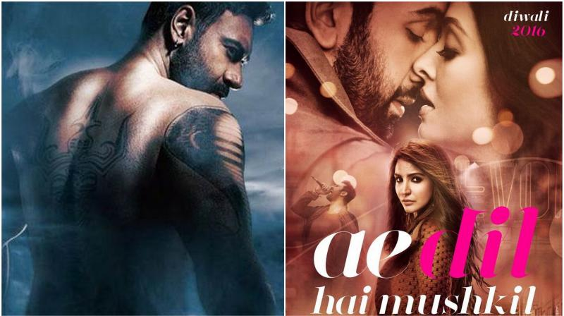 'Shivaay' defeated 'Ae Dil Hai Mushkil' with 62% votes.