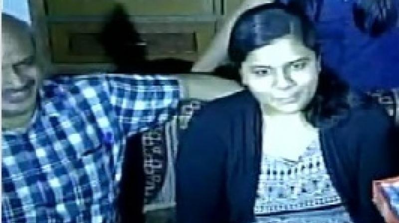 Delhi Girl Sukriti Gupta has topped CBSE Class XII board exams with 99.4 per cent. (Photo: ANI Twitter)