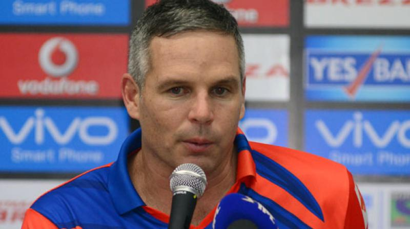 """Gujarat Lions coach Brad Hodge said there were quite a few """"areas of concern"""" in the side and was particularly miffed with the tendency of his spinners to bowl no balls at crucial junctures. (Photo: BCCI)"""