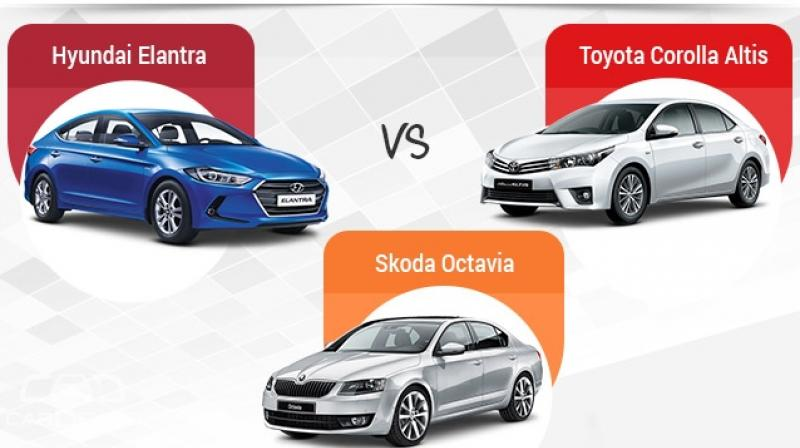 While The Elantra And The Corolla Altis Offer A Petrol And A Diesel Engine  Each,