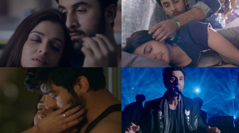 Screengrabs from the title track of 'Ae Dil Hai Mushkil'.