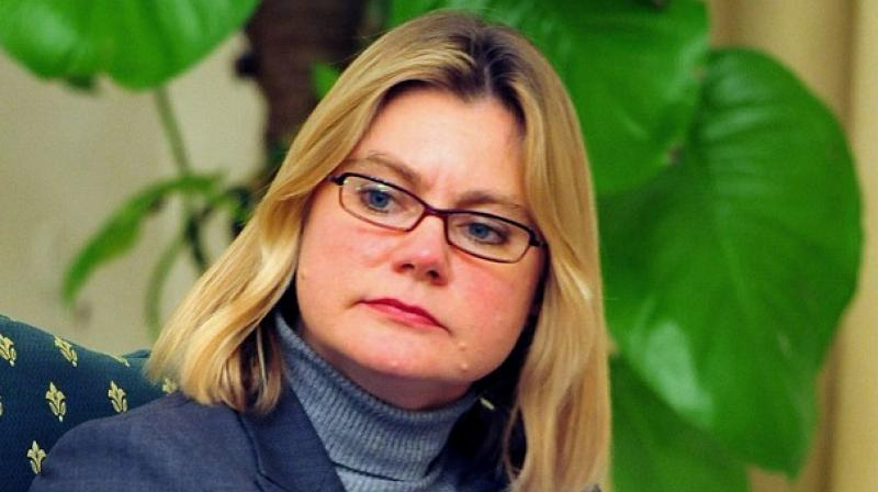 Justine Greening, 47-year-old Conservative party MP and UK Secretary of  State