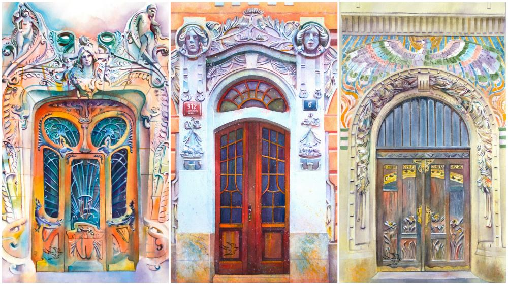 Artist Viktoria Kravchenko draw watercolour paintings of doors worldwide and reminds that doors can also be  sc 1 st  Deccan Chronicle & Artist paints door from around the world in watercolour