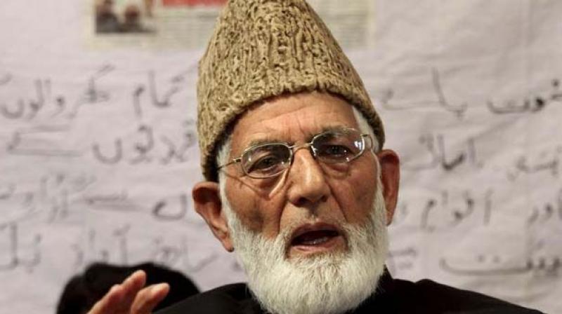 Hurriyat Conference chairman Syed Ali Geelani (Photo: File)