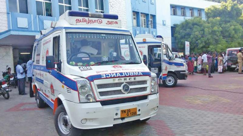 The ambulance in which Ram Kumar was being transported in to chennai. (Photo: DC)