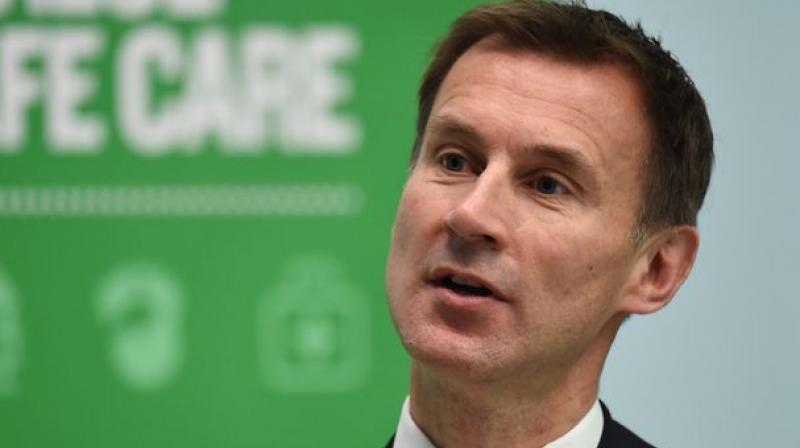 Hunt, 52, said it was disrespectful for Johnson to have turned down the opportunity for a televised head-to-head debate on Sky television. (Photo: AP | File)