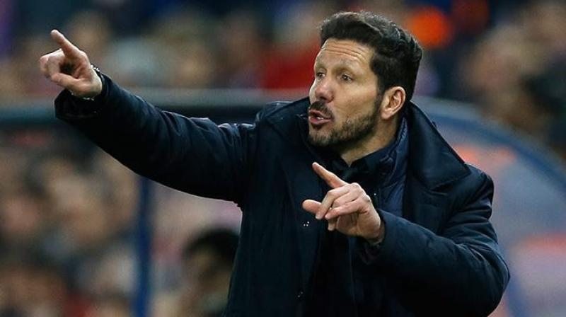Diego Simeone further said it is the third-placed Sevilla, which worries him as they are now five points behind. (Photo: AP)