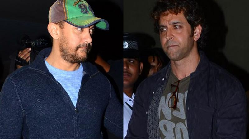 Bollywood stars Aamir Khan and Hrithik Roshan left the theatre in tears after catching a special screening of Sonam Kapoor's 'Neerja' on Monday night. Photo: Viral Bhayani
