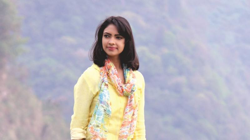 Pooja with long tresses