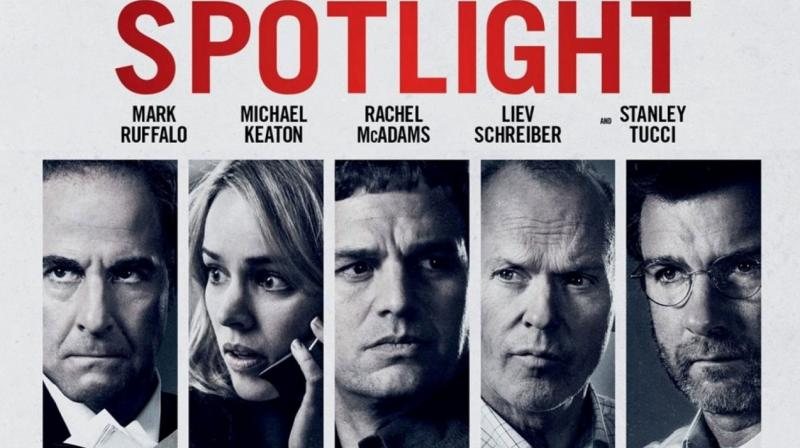 Spotlight is based on The Boston Globe's special investigation team's work on exposing the church's cover-up of sexual abuse by priests.