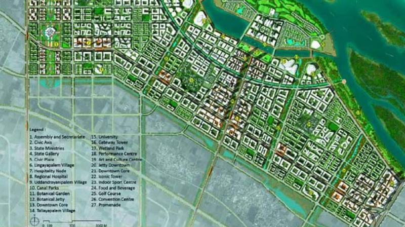 Ap to notify final master plan for new capital amaravati on a map of the seed capital development master plan prepared by the capital region development authority malvernweather Choice Image
