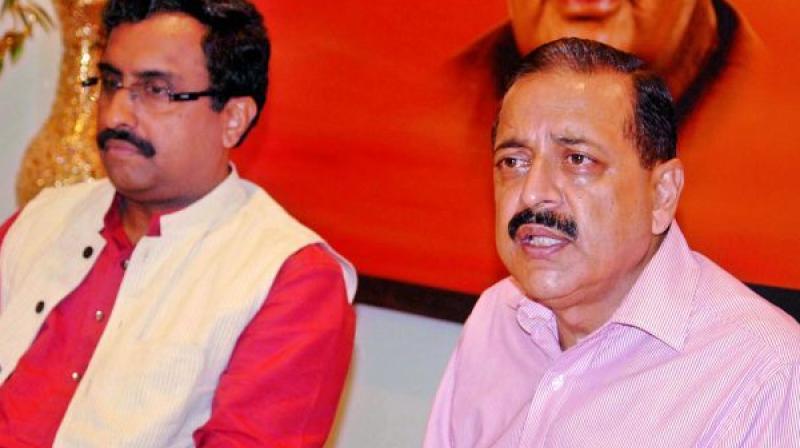Minister of state Jitendra Singh and BJP National general secretary Ram Madhav (Photo: DC)