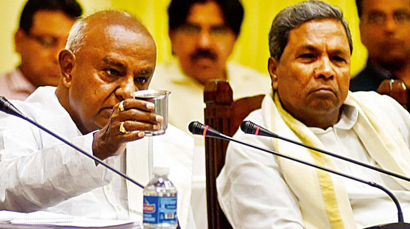 Image result for deve gowda with siddaramaiah