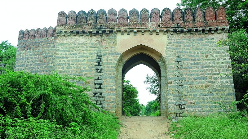 The restoration of the outer wall at Domakonda Fort in Nizamabad is complete.