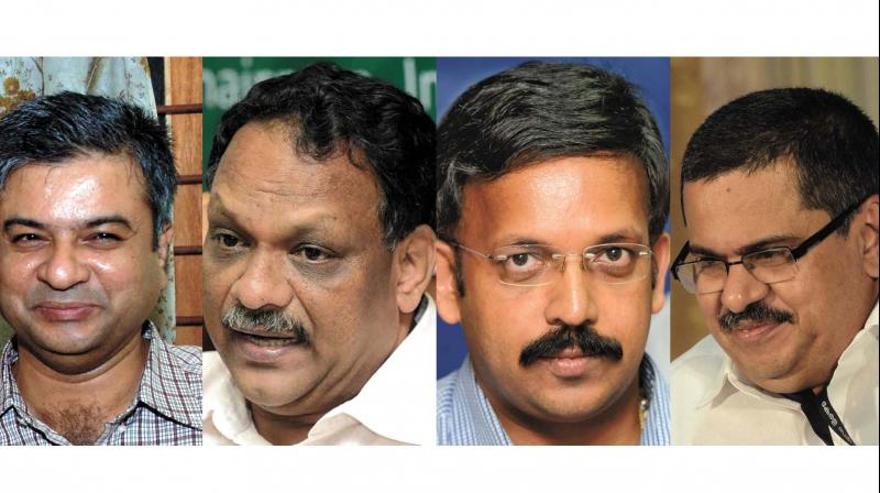 (From left to right) Raju Narayana Swamy, P.H. Kurien, K. R. Jyotilal and K.M. Abraham