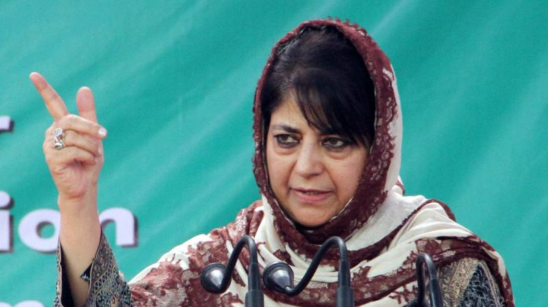Mehbooba also pitched for nominating members to the legislative assembly from the other side of LoC so that joint meetings could be held once in a year. (Photo: PTI)