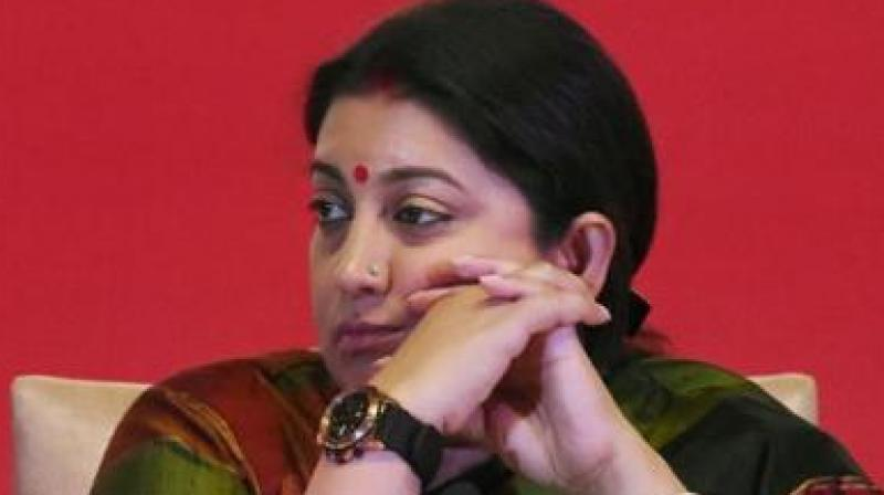 Union Textile Minister Smriti Irani. (Photo: PTI)