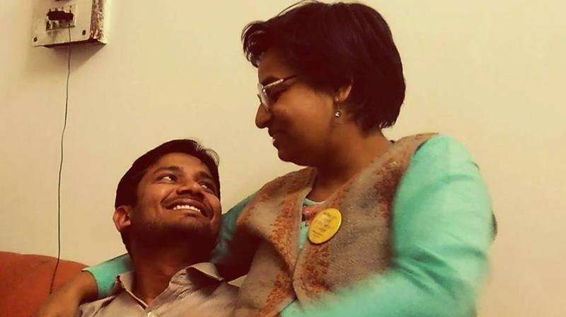 Kanhaiya Kumar's photo along with his female friend that went viral. (Photo: Facebook)