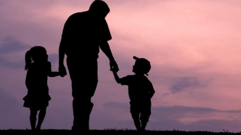 Around 50 fathers under Share-A-Childhood foundation staged a two-hour-long protest at Basheerbagh on Saturday. (Representational Image)