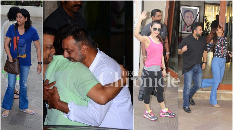 On February 25, Sanjay Dutt walked out as a free man from the Yerawada Central prison after serving 42 months. Bollywood celebrities gathered around at his residence to greet the actro. (Photo: Viral Bhayani)