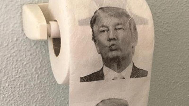 China-made Trump toilet papers (Photo: Twitter)