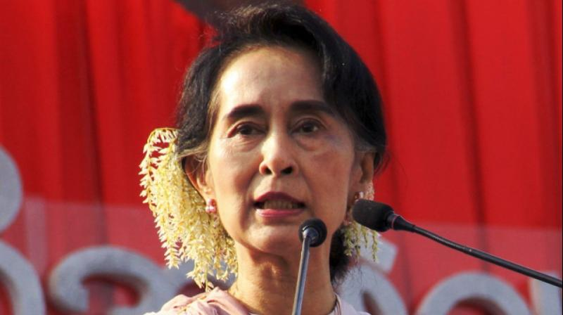 Suu Kyi did not use the word