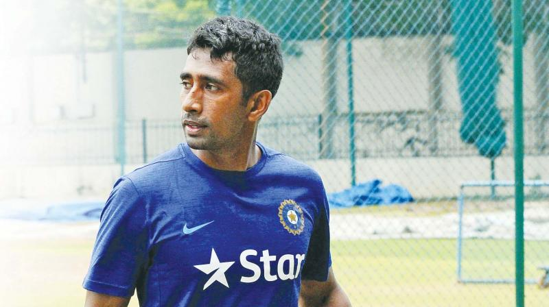 Wriddhiman Saha  during a training session at NCA. (Photo: Shashidhar B)