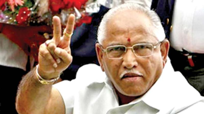 BJP state chief BS Yeddyurappa