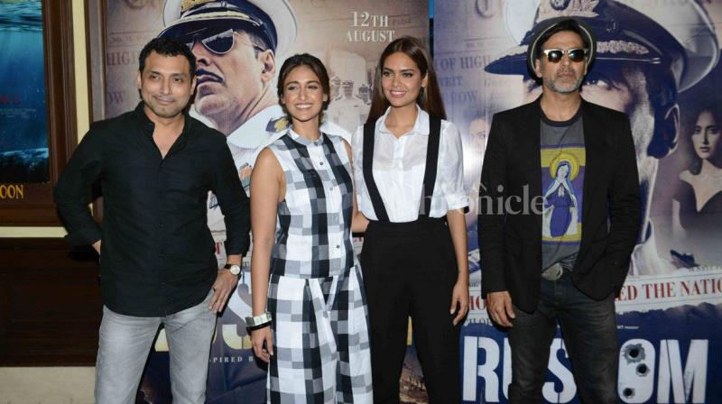 Akshay, Esha, Ileana and producer Neeraj Pandey promote Rustom in Delhi
